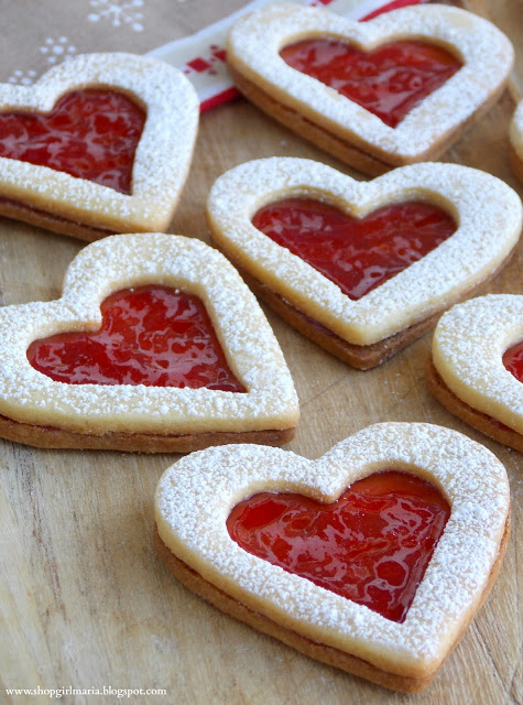 Linzer Heart Cookies by Shop Girl Maria