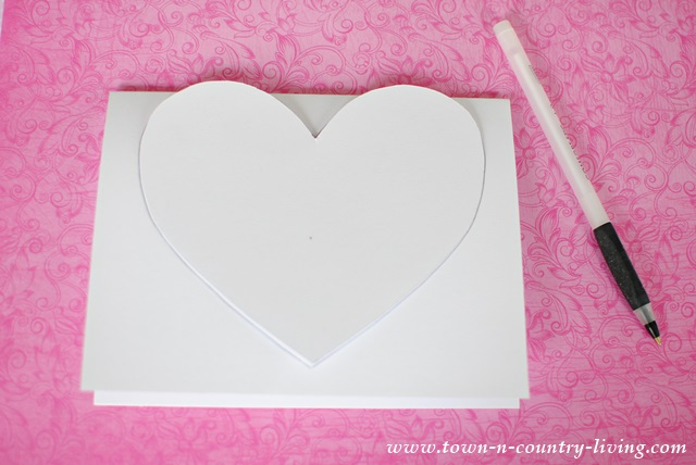 Instructions for making 3-D paper Valentine hearts