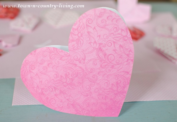 DIY for making Valentine's Day cards
