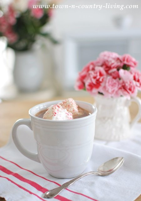 Hot Chocolate with Peppermint Marshmallows