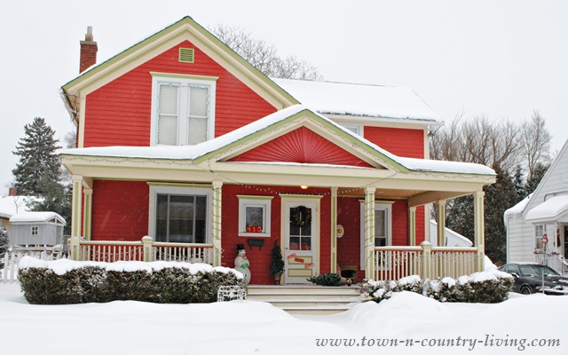 Red Historic Home in Woodstock, IL