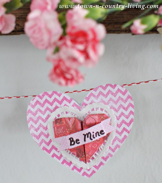 Paper Heart Valentine Banner by Town and Country Living