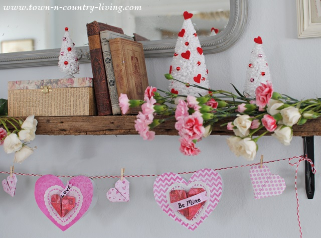 Paper Heart Valentine Banner - DIY by Town and Country Living