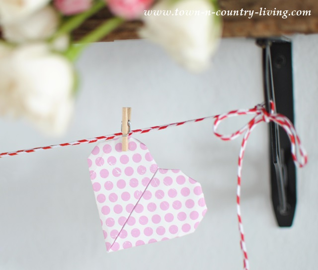 Origami scrapbook paper Valentine's heart
