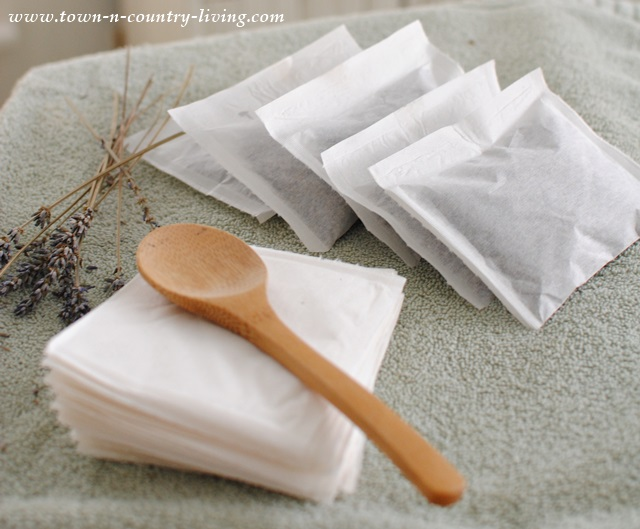 How to make lavender dryer sachets via Town and Country Living