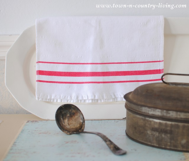 Vintage finds of tinware and enamelware