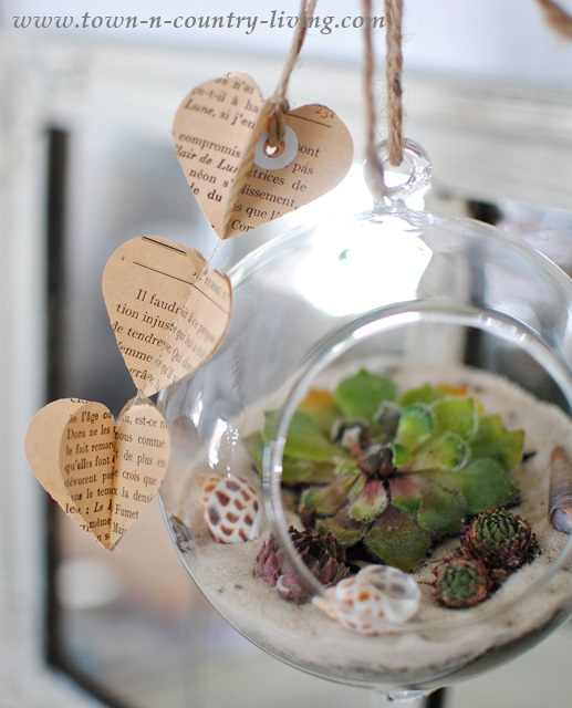 Hanging globe terrarium via Town and Country Living