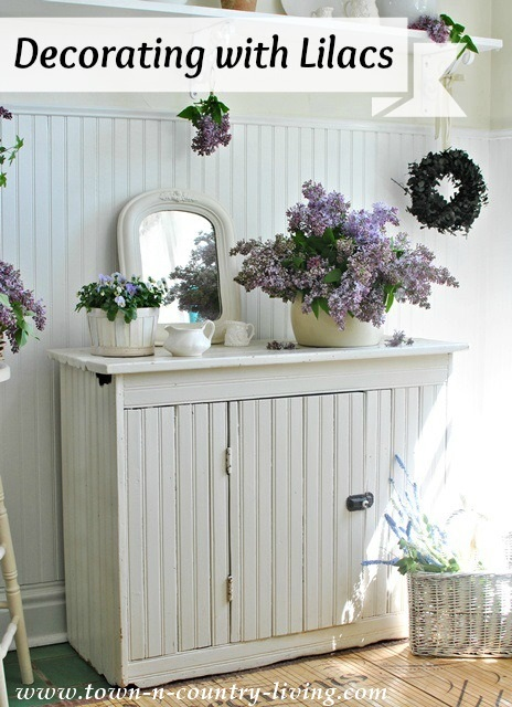 Decorating with Lilacs via Town and Country Living
