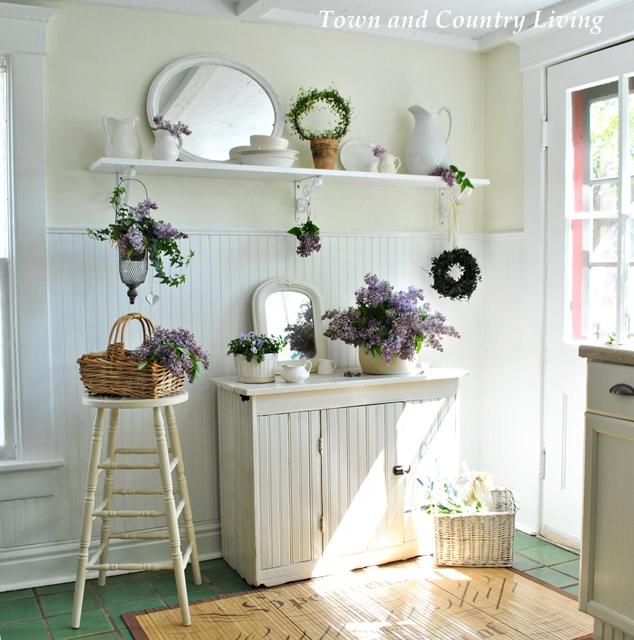 Lilacs in a Farmhouse Kitchen