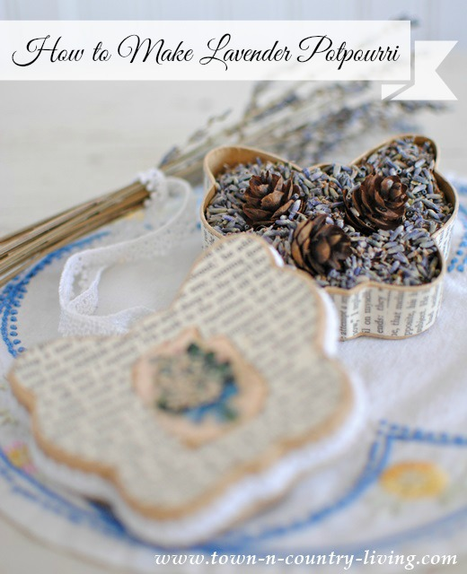 Making Lavender Potpourri
