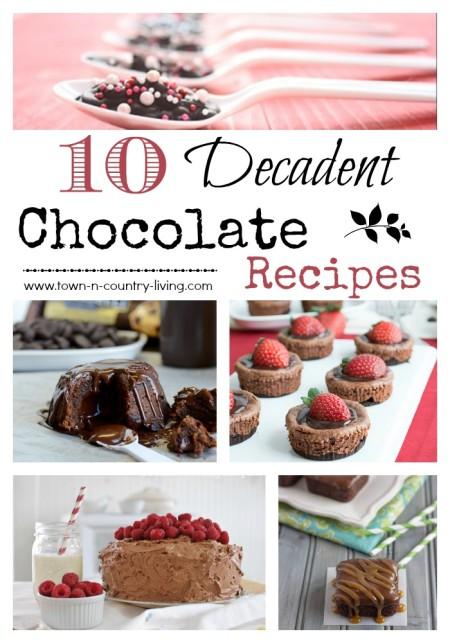 10 Decadent Chocolate Recipes