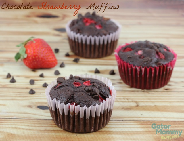 Chocolate Strawberry Muffins by Gator Mommy Reviews