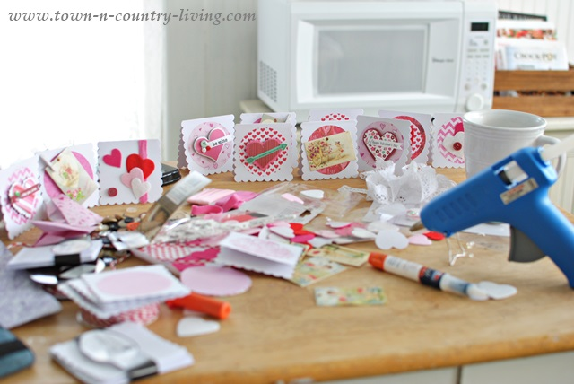 Making Homemade Valentine's Day Cards