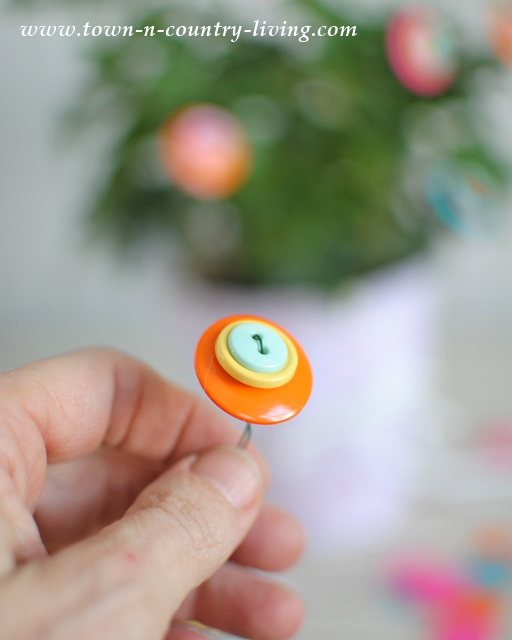 DIY Button Flowers via Town and Country Living