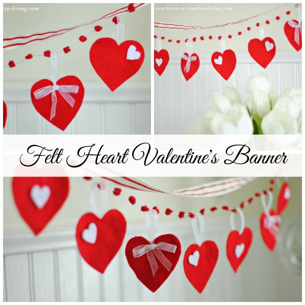 Felt Heart Banner Tutorial