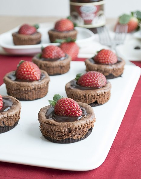 Mini-Chocolate-Strawberry-Cheesecake by The First Year Blog