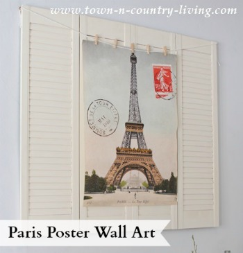 Paris Poster Wall Art via Town and Country Living