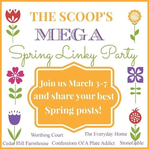 Scoop Spring Linky Party at Town and Country Living