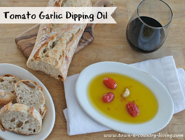 Tomato Garlic Dipping Oil Recipe
