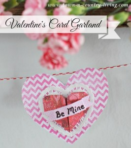 Valentines Card Garland Tutorial
