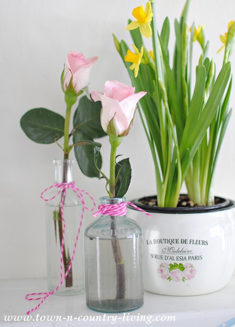Spring decorating with flowers