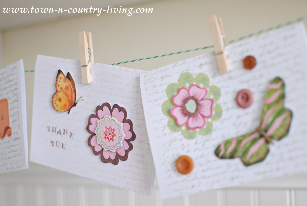 Banner made with greeting cards