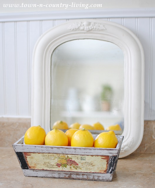 Lemons and a vintage mirror