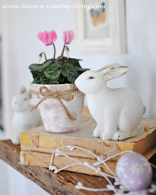 Easter Decorating with Bunnies and Flowers