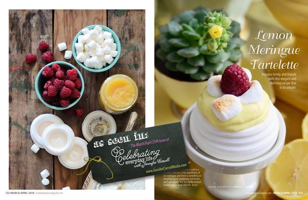 Lemon Tartelette Recipe from Celebrating Everyday Life