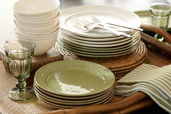 Nature colored dish sets by Pottery Barn