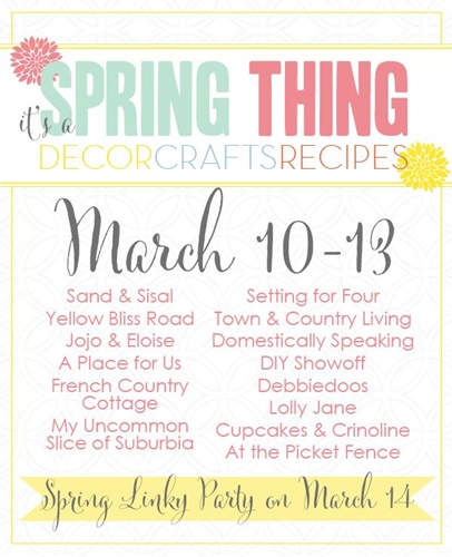 Spring Thing Blog Hop via Town and Country Living