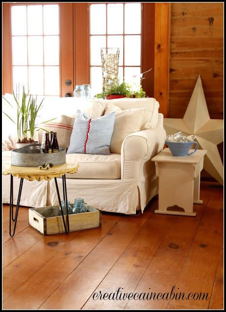Creative Cain Cabin Living Room