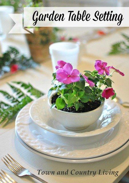Garden Tablescape for the Summer
