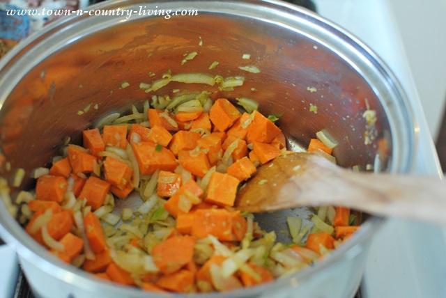 Sweet Potatoes and Onion Saute