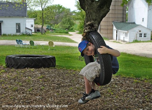 Tire Swing at Primrose Farm