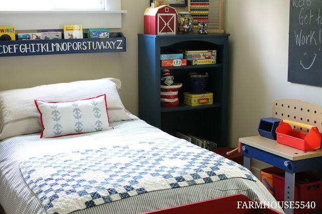 Boys Bedroom in Charming Farmhouse