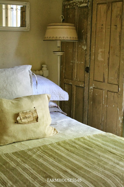 Farmhouse Guest Bedroom with Built-in Hutch