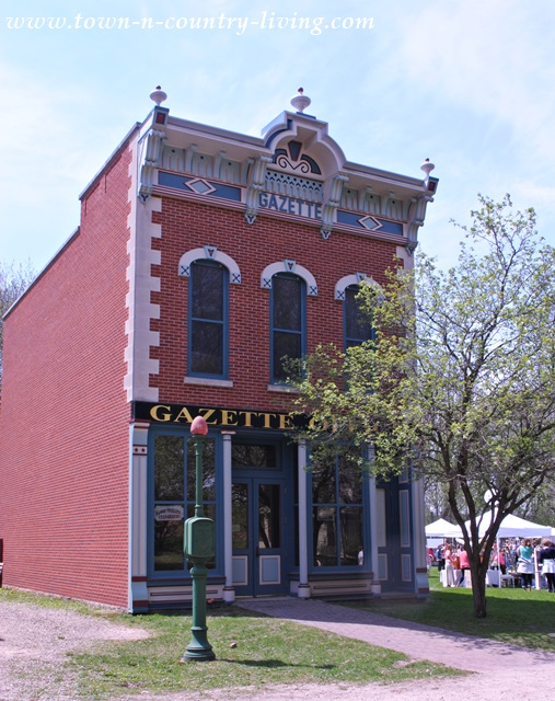 Gazette Building at Midway Village in Rockford, Illinois