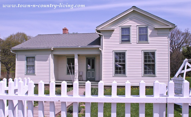 Historic Clapboard House at Midway Village and Museum