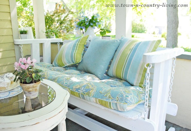 How To Quickly Update A Porch Glider Inspire Me