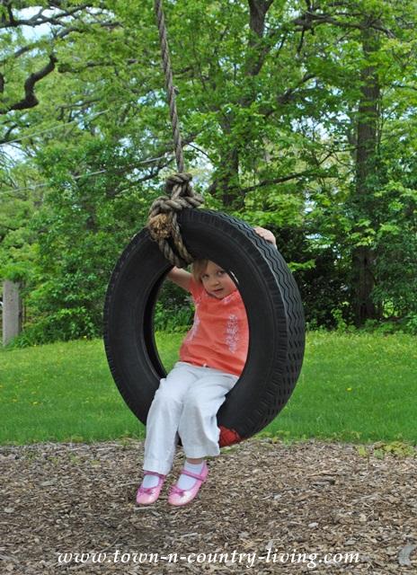 Fun on a Tire Swing