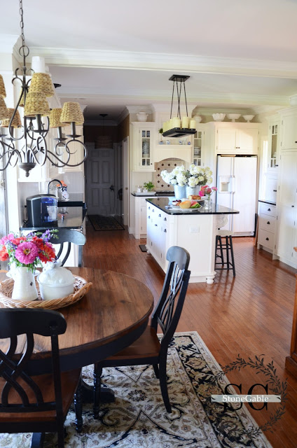 Traditional Elegance in a White Farmhouse Style Kitchen