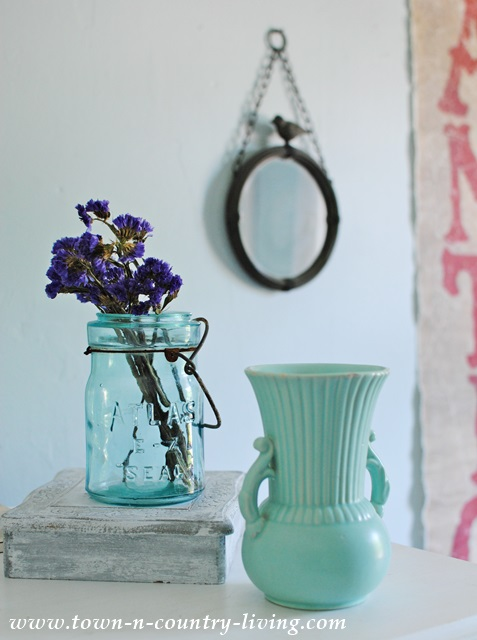 Aqua Vignette for Summer Bedroom