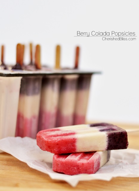Berry Colada Popsicles by Cherished Bliss