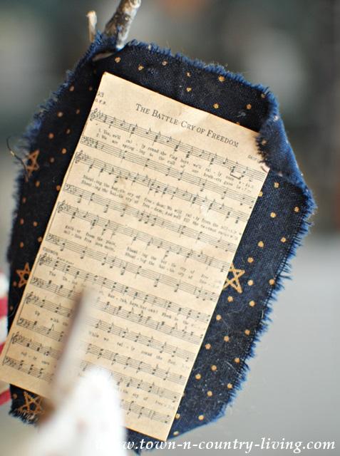 DIY Mini Flag with Sheet Music