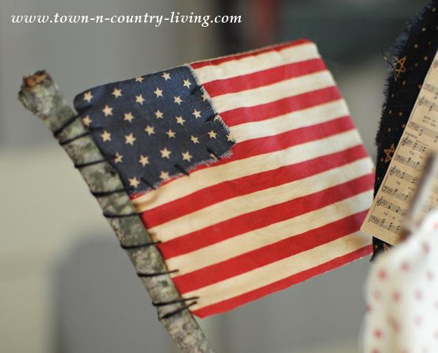 DIY Miniature US Flag on a Stick