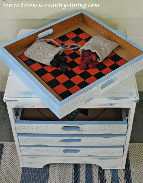 Game Table Painted in Annie Sloan Chalk Paint