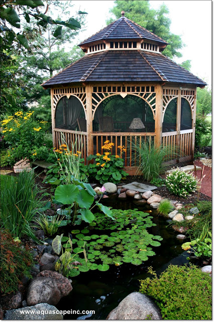 Gazebo with Water Garden