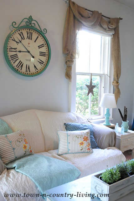 Burlap Turquoise Themed Living Room Best Site Wiring Harness