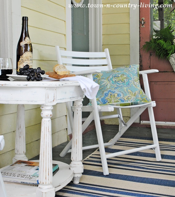 Summer Seating Area on a Farmhouse Porch